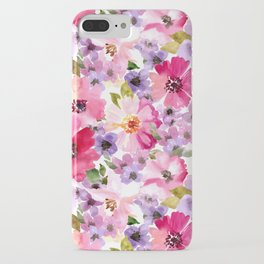 FLOWERS WATERCOLOR 6 iPhone Case