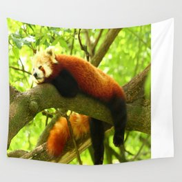 Chilling Red Panda Wall Tapestry