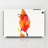 bird iPad Cases featuring Punk bird by Robert Farkas
