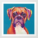 Boxer Face Blue boxer dog breed funny dog animals pets by nikkieve