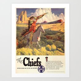 Vintage poster - The Chiefs Art Print