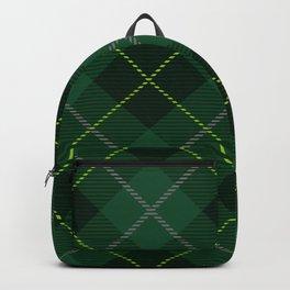 Irish Quilt Green Plaid Tartan Pattern Backpack