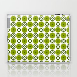Flowers and spikes – green Laptop & iPad Skin