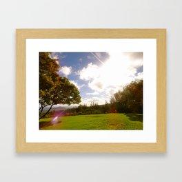 Atop a Mountain Framed Art Print