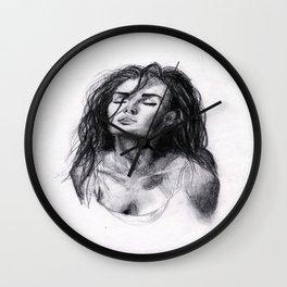 Megan Fox Sketch Wall Clock
