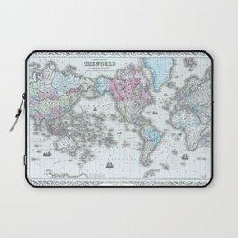 Vintage World Map 1855 Laptop Sleeve