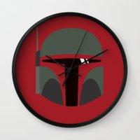 Star Wars Minimalism - Boba Fett Wall Clock