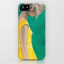 Poppy Yellow Dress Original Painting iPhone Case