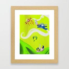 Aerial Battle Framed Art Print