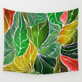 Dancing leaves Wall Tapestry