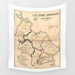 U.S. Zone, Germany IRO aAreas Map (November 1st, 1948) Wall Tapestry