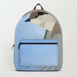 WILLOW TIT BIRD LOW POLY ART Backpack