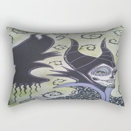 Maleficent Sugar Skull Rectangular Pillow