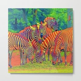 AnimalColor_Zebra_002_by_JAMColors Metal Print