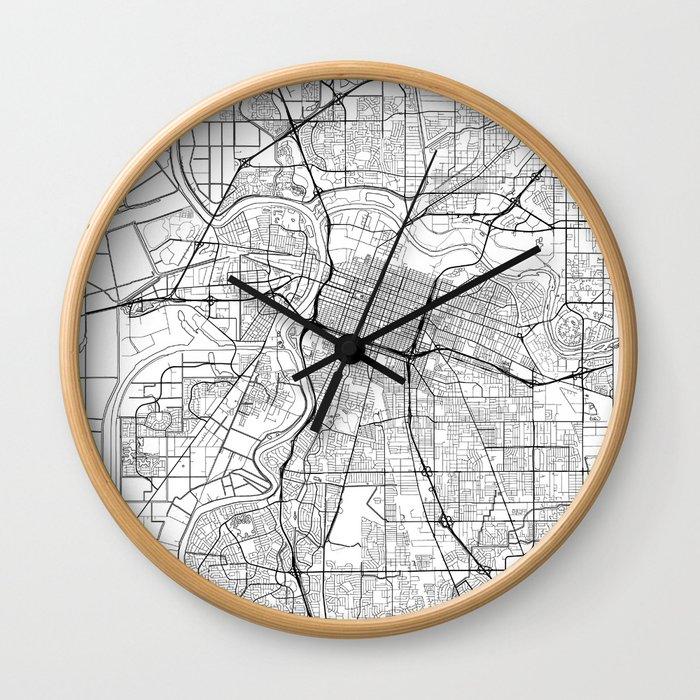 Sacramento Map White Wall Clock
