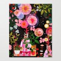 carousel Canvas Prints featuring carousel by Danse de Lune