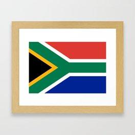 South Africa Flag Framed Art Print