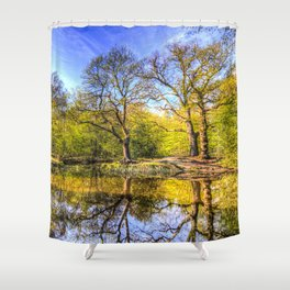 The Tranquil Pond Shower Curtain