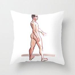KEN, Nude Male by Frank-Joseph Throw Pillow