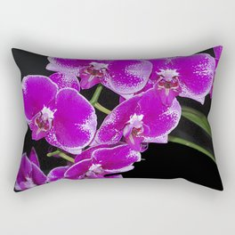 Graceful spray of deep pink orchids Rectangular Pillow