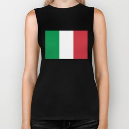 Flag of Italy - High quality authentic version Biker Tank