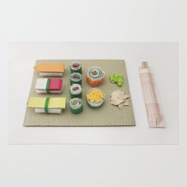 sushi, paper craft, paper art, kitchen, gift Rug