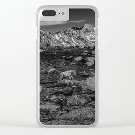 Mountain Goat at Twin Lakes Clear iPhone Case