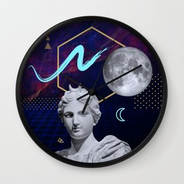 Ancient Gods and Planets: Moon Wall Clock