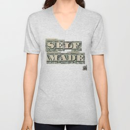 SELF MADE Script Unisex V-Neck