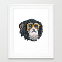 monkey Framed Art Prints featuring Monkey! by  Steve Wade ( Swade)