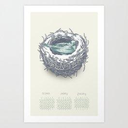 Seasonal Calendar: Winter 2015 Art Print