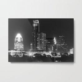 Austin - B&W Metal Print