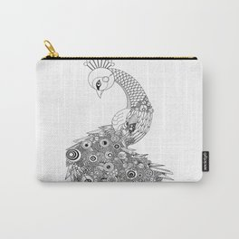 Peacock Doodle Carry-All Pouch