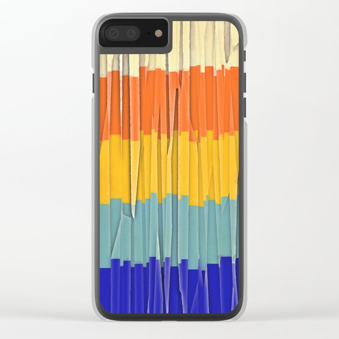 Shredded Stripes Clear iPhone Case