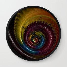 Jewel Silk Spiral Wall Clock