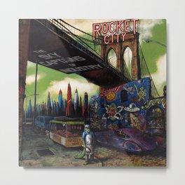 Rocket City cover art Metal Print