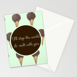 Melt With You (Mint) Stationery Cards