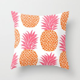 Pattern of Pineapple Throw Pillow
