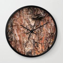 Pine tree bark texture Wall Clock