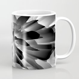 Flowers Exploding in Black and White Coffee Mug