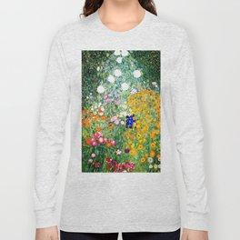 Flower Garden by Gustav Klimt vibrant Long Sleeve T-shirt