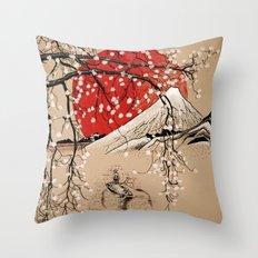Japan Fishermen Throw Pillow