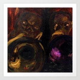 "Classical African-American Masterpiece 'Harlem Jazz Musicians"" Art Print"