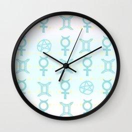 Pastel Gemini Wall Clock