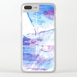 Blue white abstract Clear iPhone Case