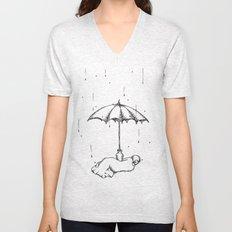 Rain Rain Go Away! Unisex V-Neck