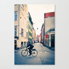 Copenhagen Cycle Style Canvas Print