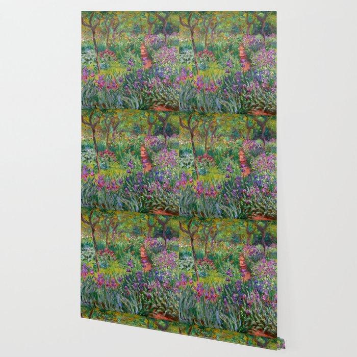 """Claude Monet """"The iris garden at Giverny"""", 1900 Wallpaper"""