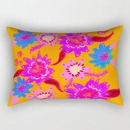 Neon Violets Rectangular Pillow