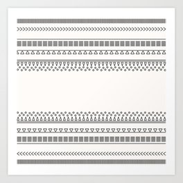 Tribal Pattern of Balondo Art Print
